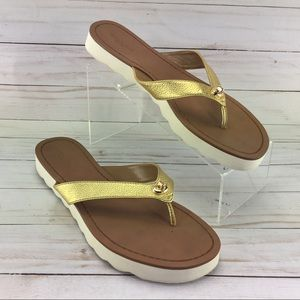 Coach Shelly Sandals Gold Size 9B